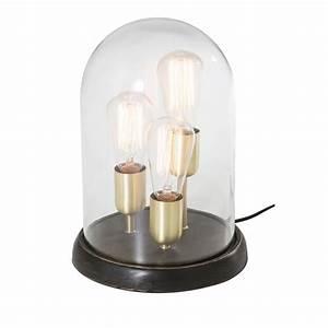 Cloche En Verre Maison Du Monde : 3 lampes sous cloche en verre backstage maisons du monde ~ Melissatoandfro.com Idées de Décoration