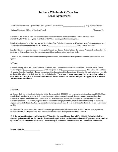 Commercial Building Lease Agreement Template by 13 Commercial Lease Agreement Templates Excel Pdf Formats