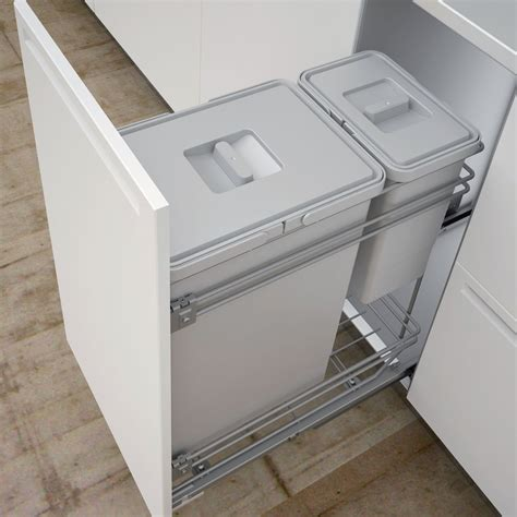 Bins For Kitchen Cupboards by It Kitchens 300mm Integrated Pull Out Kitchen Bins 30l