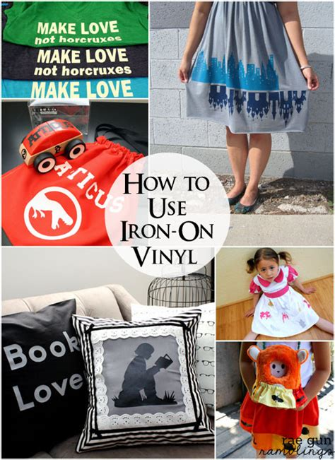 how to make iron on letters tutorial how to use iron on vinyl gun ramblings