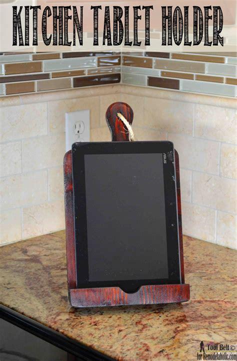 tablet holder for kitchen remodelaholic how to make a tablet holder