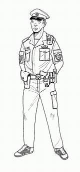 Policeman Colorare Poliziotto Linseed Patrolman Gits sketch template