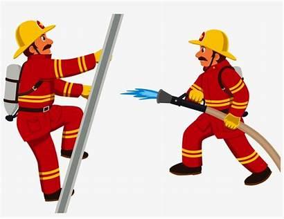 Firefighter Fireman Fire Cartoon Clipart Clip Department