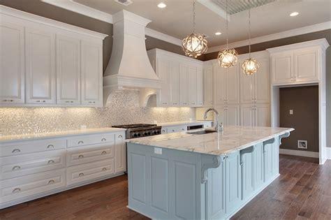 White And Silver Iridescent Tile Backsplash-transitional
