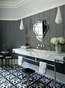 Salle de bain retro 50 idees deco interessantes et for Salle de bain design avec table décorée pour anniversaire