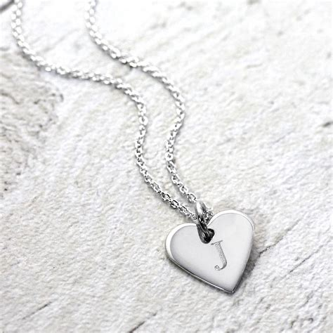 Silver Initial Heart Pendant By Hersey Silversmiths ...