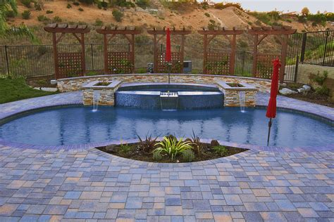 pool and patio choosing the best paving materials for your los angeles