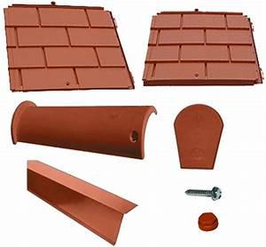 Tuile Plate Terre Cuite : toiture tuile plate terre cuite 2 pentes en kit ~ Melissatoandfro.com Idées de Décoration