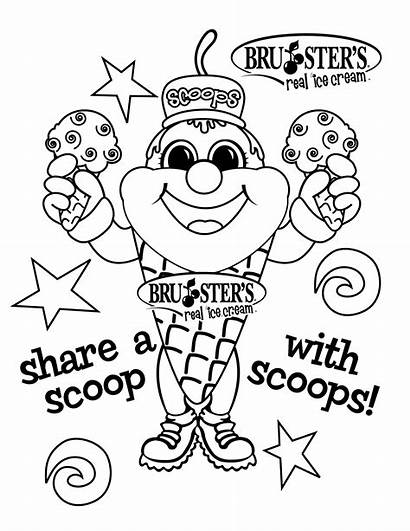 Ice Cream Coloring Pages Parlor Cookie Monster