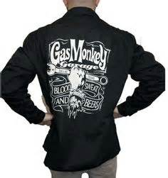 fast and loud tv show gas monkey garage denim zip up patch