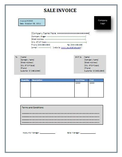 Sle Invoice Template Invoice Templates Free Word S Templates