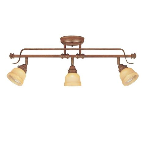 3 light adjustable semi flush mount walnut light fixture