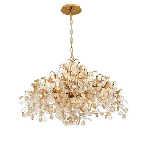 And Gold Chandelier by Eurofase Cobasso 8 Light Gold Chandelier With Glass