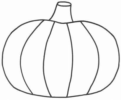 Pumpkin Coloring Pages Pumpkins Printable Template Outline