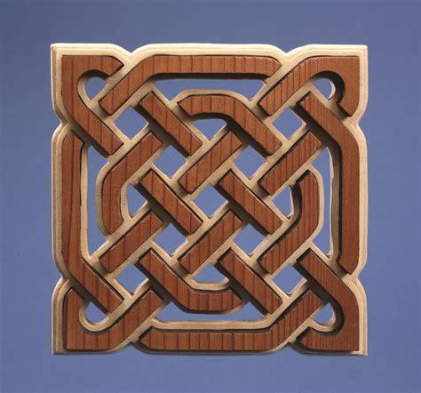 celtic knotwork trivet scroll  woodworking crafts