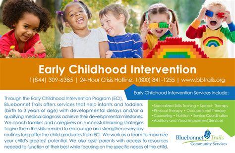 early childhood intervention bluebonnet trails community 432 | ECI half page flyer