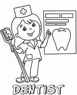Coloring Dentist Pages Sheets Sheet Printable Children sketch template