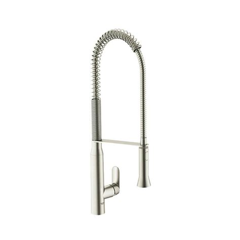 grohe k7 kitchen faucet shop grohe k7 supersteel 1 handle high arc kitchen faucet at lowes com