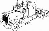 Coloring Trailer Truck Camper Template sketch template