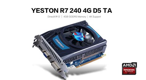 amd gpu fan control yeston amd radeon r7 240 4gb gddr5 graphics card hdmi vga