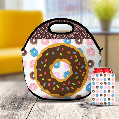 donut lunch bag lunch box insulated lunch tote kids