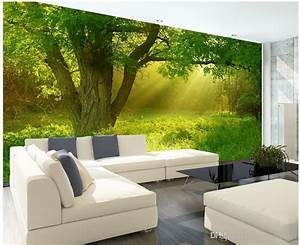 New Custom 3d Beautiful Stereo Nature Jungle Tv Wall Mural ...