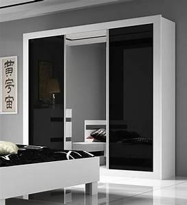 Armoire Noir Et Blanc : armoire chambre adulte ~ Preciouscoupons.com Idées de Décoration
