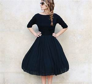 black vintage cocktail dress | Trendy Dress