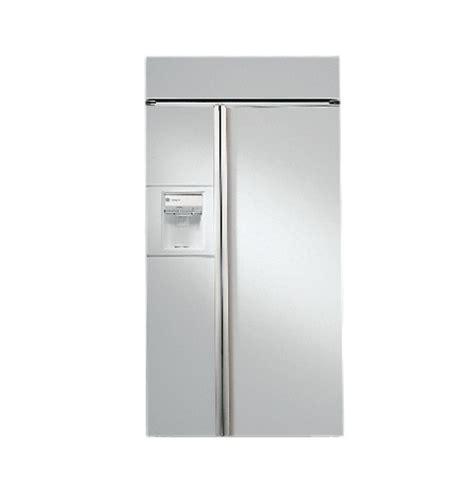 ziswdc ge monogram  built  side  side refrigerator  white dispenser