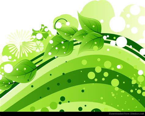 green leaves  abstract wave background vector