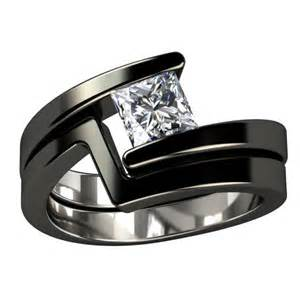 womens black wedding rings ngagement rings finger mens engagement rings black titanium
