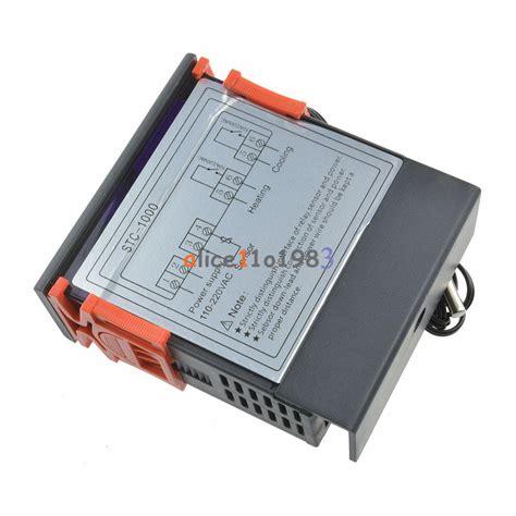 digital stc 1000 temperature controller temp sensor thermostat 110 220v