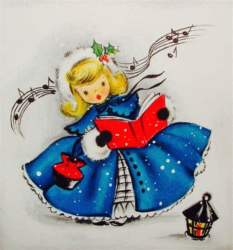 vintage christmas card retro christmas card vintage