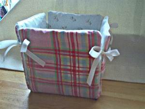Making Fabric Covered Storage Boxes