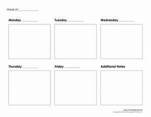 5 day weekly calendar printable journalingsagecom for Free 5 day calendar template