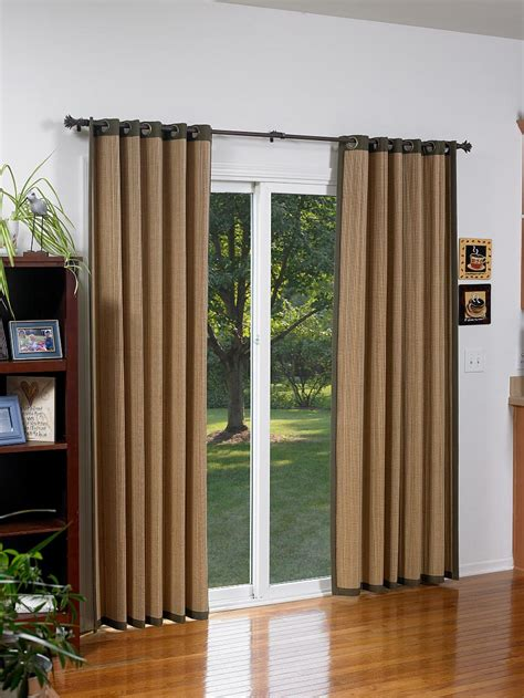sliding glass doors with blinds bamboo shades for sliding glass doors window treatments
