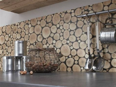 cuisine geant d ameublement sticker géant mural de cuisine avec troncs d 39 arbre photo