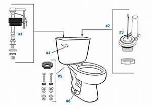Mansfield Cascade Toilet Replacement Parts