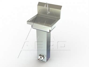 foot operated sink foot pedal sinks nsf listed aero