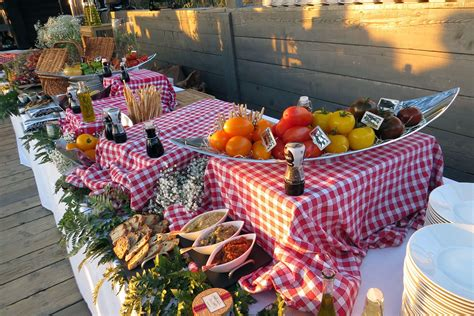 buffet campagnard noiva en  brunch wedding garden