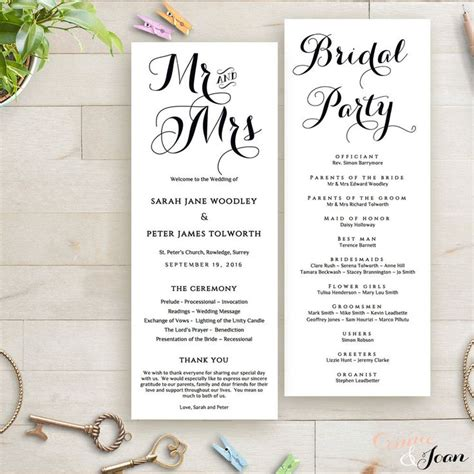 wedding reception program ideas byron printable wedding order of service template wedding programs template and programming