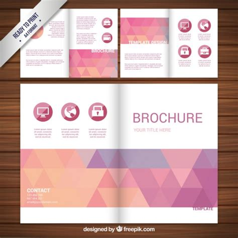 Brochure Design With Triangles Vector