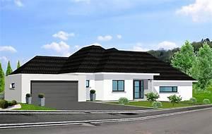beautiful modele maison cubique plain pied lorraine photos With awesome maison demi niveau plan 10 maisons vinci constructeur de maisons individuelles en
