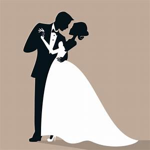 Beautiful bride and groom vector set 05 - Vector People ...