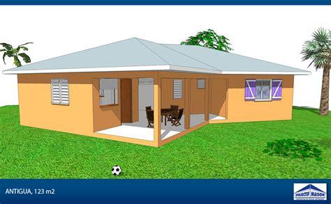 plan maison plain pied 3 chambres gratuit réalisation de villas clés en en guadeloupe