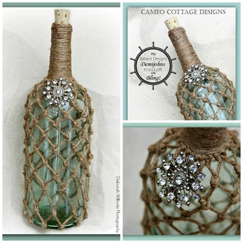 ballard designs rope wine bottle knock  hometalk