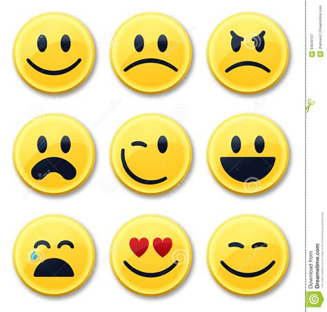smile  emotion faces stock vector illustration  cute
