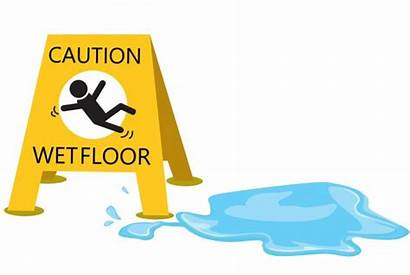 Floor Slippery Water Clipart Caution Drop Sign