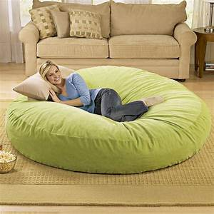 giant bean bag chair lounger alldaychic With biggest bean bag bed