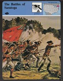 Revolutionary War Battle of Saratoga 1777